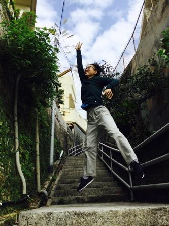 空へジャンプ