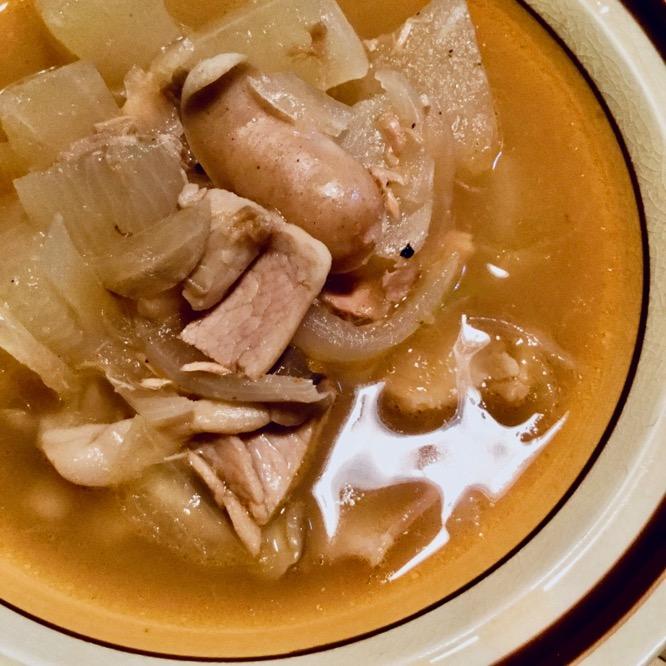 大根とウィンナーのスープ