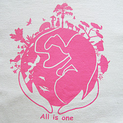Tシャツ All is one. (ピンク)